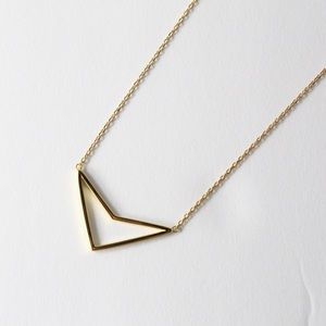 Jewelry - Sterling Silver Gold Plate Arrow Necklace  18 inch
